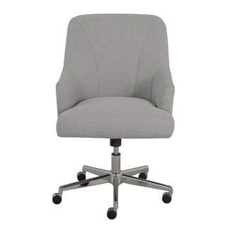 Serta Leighton Light Grey Fabric Home Office Chair