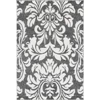 "Damask Grey Area Rug - 5'3"" x 7'3"""