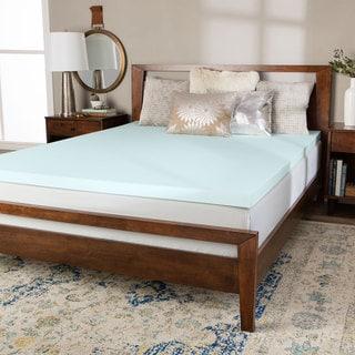 Link to Splendorest 3-inch Serene Foam Mattress Topper - Blue Similar Items in Mattress Pads & Toppers