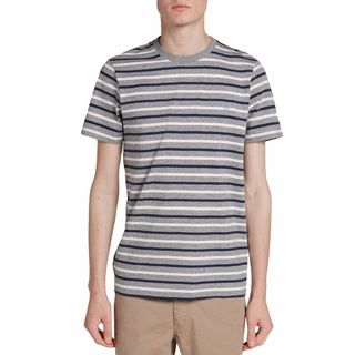 Fred Perry Breton Grey Striped T-shirt (4 options available)