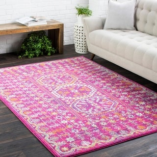 Bright Traditional Vintage Pink (5'3 x 7'3)