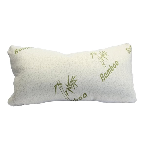 Magic Shredded Memory Foam Pillow with Rayon from Bamboo Cover - White