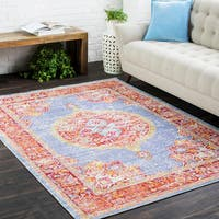 The Curated Nomad Folsom Oriental Blue Runner Rug (3' x 7'10)