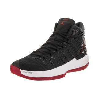 Nike Jordan Men's Jordan Melo M13 Black/Red/White Textile Basketball Shoe