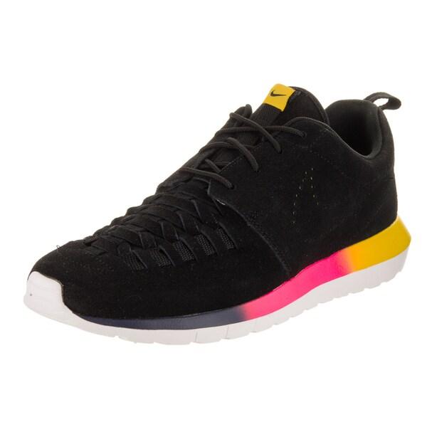 e2ff2af992158 Shop Nike Men s Rosherun NM Woven Black Suede Running Shoes - Free ...