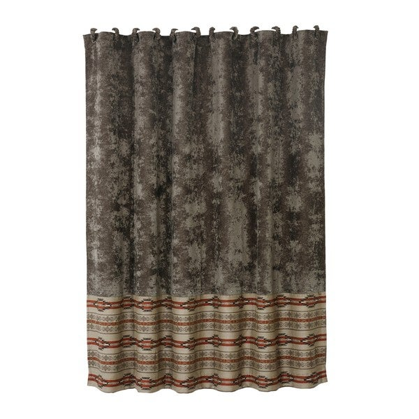 Shop Hiend Accents Silverado Matching Shower Curtain With 12 Fabric