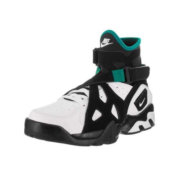 Nike Men's Air Unlimited Black and White Leather Basketball Shoes