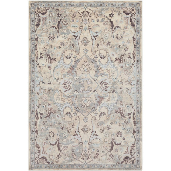 Persian Inspired Neutral Grey Rug (2' x 3')