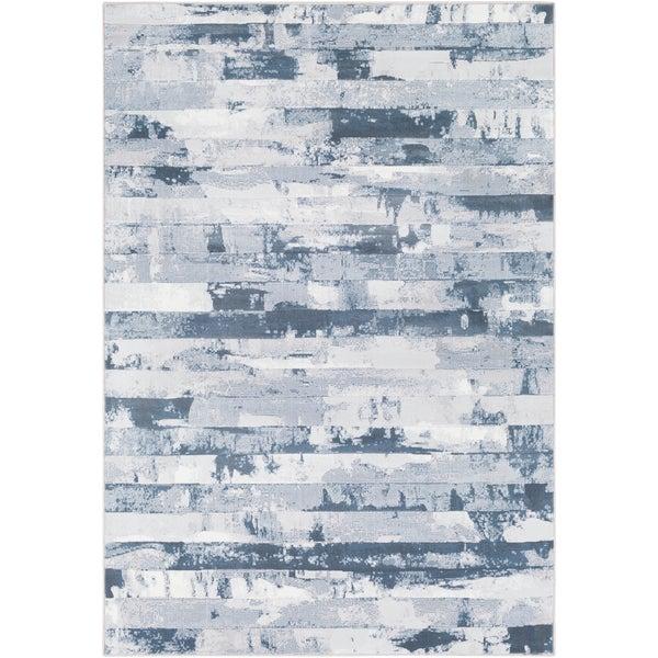 Abstract Modern Contemporary Grey (2' x 3')