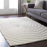 Soft Swirly Shag White Area Rug - 2' x 3'