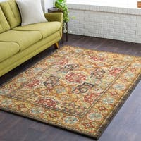 """Kinley Updated Traditional Yellow-Multi Color Area Rug - 5'3"""" x 7'3"""""""
