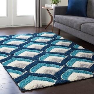 Soft Patterned Shag Blue (2' x 3')