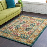 Copper Grove Shouf Traditional Teal Multicolor Area Rug (5'3 x 7'3)