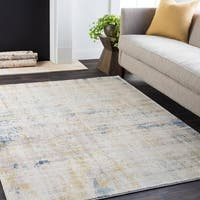 Distressed Beige Area Rug (5'3 x 7'6)
