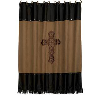 HiEnd Accents Barbwire Cross 72-inch x 72-inch Shower Curtain