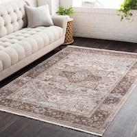 Vintage Persian Traditional Beige and Brown Area Rug - 2' X 3'