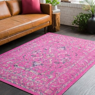 Traditional Persian Distressed Pink (5'3 x 7'6)