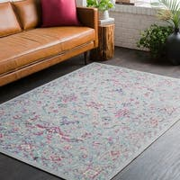 """Traditional Persian Distressed Grey Area Rug - 5'3"""" x 7'6"""""""