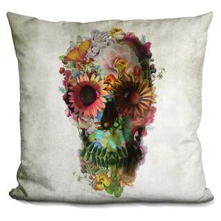 Ali Gulec 'Skull 2' Throw Pillow