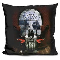 Ali Gulec 'Room skull' Throw Pillow