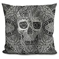Ali Gulec 'Lace skull' Throw Pillow