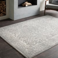 Tate Vintage Medallion Grey Area Rug (5'3 x 7'6)