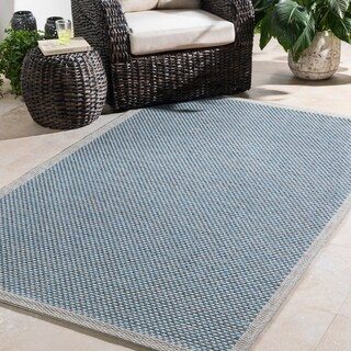 Bordered Durable Indoor/ Outdoor Area Rug - 2' x 3'