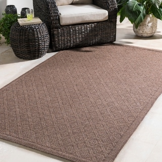 Durable Woven Indoor/Outdoor Brown (2' x 3')