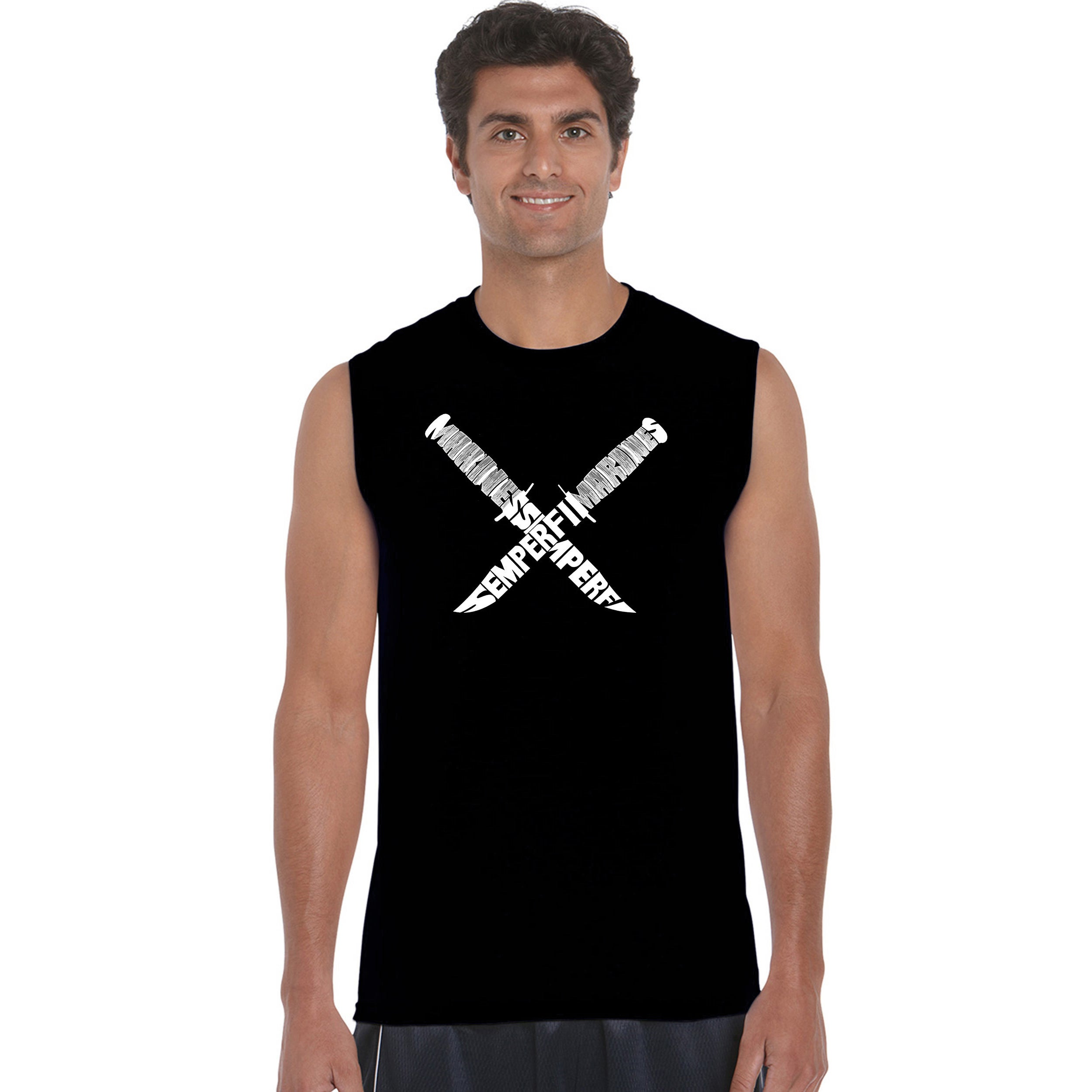 Los Angeles Pop Art Men's Sleeveless T-shirt - Semper Fi ...