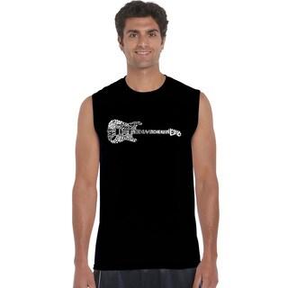 Los Angeles Pop Art Men's Sleeveless T-shirt - Rock Guitar