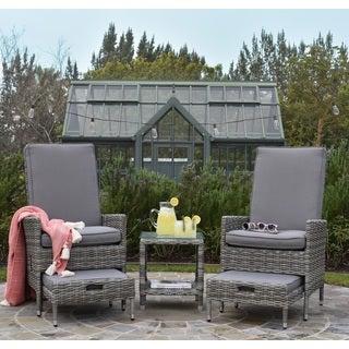 Elle Decor Vallauris Outdoor 5-Piece Reclining Set - Outdoor Wicker