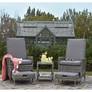 Elle Decor Vallauris Outdoor 5-Piece Reclining Set - Outdoor Wicker