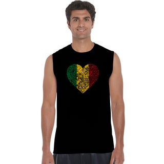 Los Angeles Pop Art Men's Sleeveless T-shirt - One Love Heart