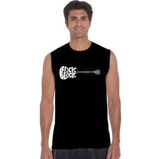 Los Angeles Pop Art Men's Sleeveless T-shirt - Back in Black