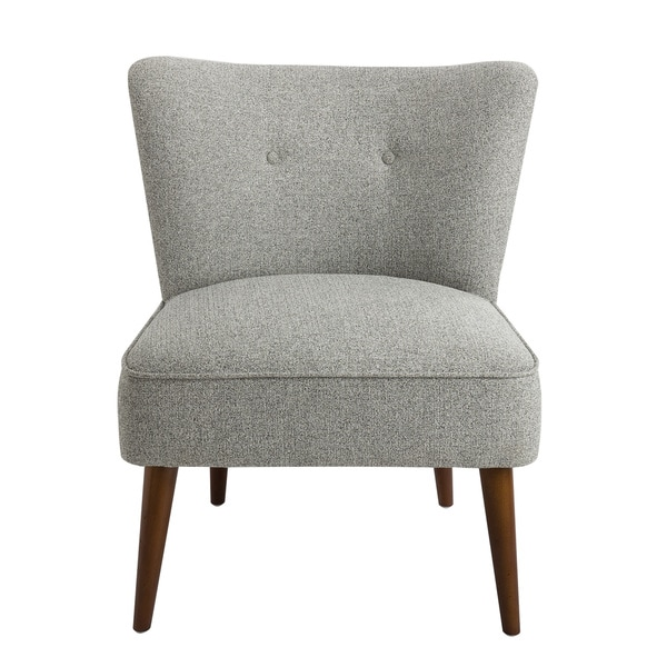 HomePop Chadwick Armless Accent Chair   Gray