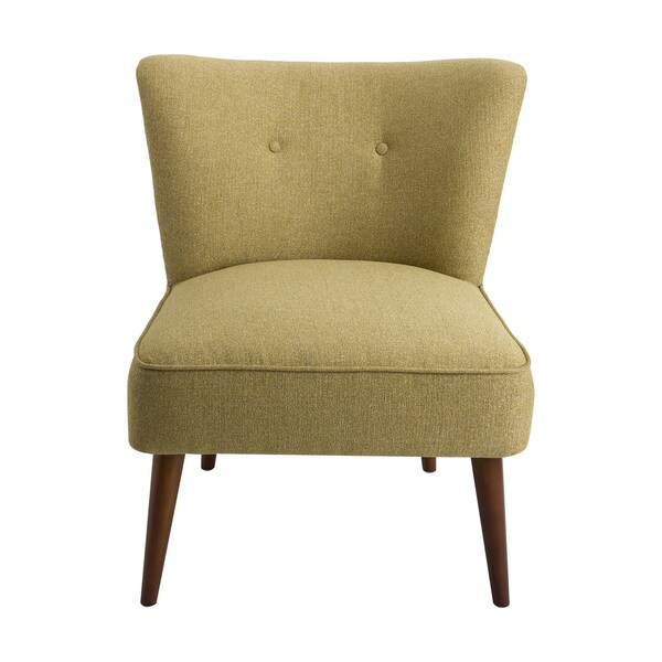 Merveilleux HomePop Chadwick Armless Accent Chair   Green