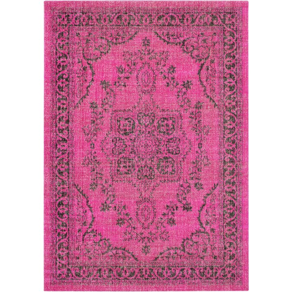 Traditional Persian Distressed Overdyed Pink-(2' x 3')