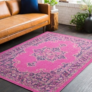 Traditional Persian Distressed Pink (2' x 3')