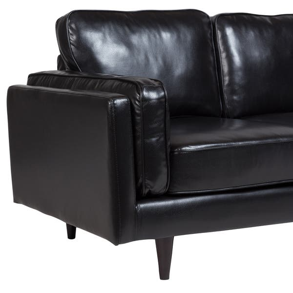 Shop Porter Dylan Black Leather Look Contemporary Mid ...