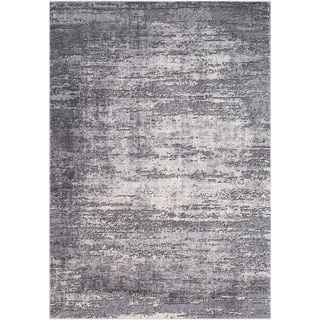 Duncan Grey Distressed Abstract Area Rug - 2 x 3 (2 x 3 - Grey)