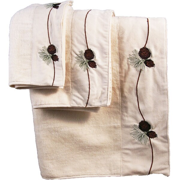 Hiend Accents Pine Cone Bath Towel (Set Of 2)