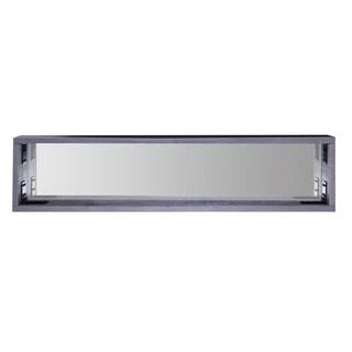 Hobbitholeco Grey Wood 42-inch x 9.5-inch Mirrored Shelf