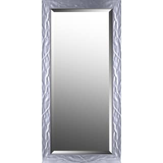 Hobbitholeco Wave Silver 14.75-inch x 30.75-inch Mirror With 12-inch x 28-inch Inner Mirror