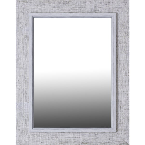 Hobbitholeco Antique White Wash Wood Frame With 20 Inch X 28 Inner Mirror