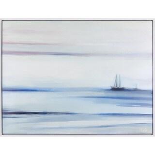 31.5X41.5 Mystical Sailboat, Acrylic framed art