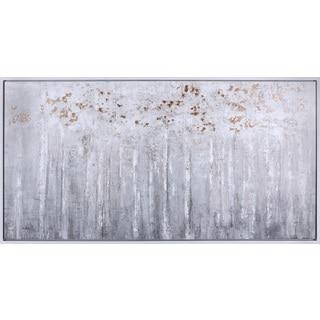 26.5X50.5 Bronze Forest, hand painted framed art