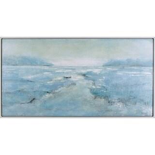 26.5X50.5 Aquamarine Marsh, hand painted framed art