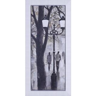 Peter Kiyanista 'Walk by the Lamp' Framed Wall Art