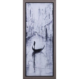 Peter Kiyanista 'Venice Boat' 20.75 x 50.75-inch Framed Art