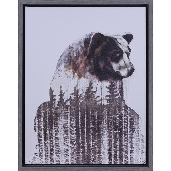 Daniel St-Amant 'Brown Bear' 14.5 x 18.5-inch Framed Art